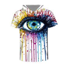 Mr 1991INC New Fashion Men Women 3d T shirt Print Big Crying Eyes Outflow Paint Hip