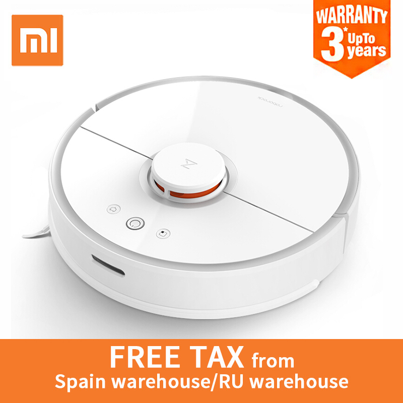 Global Version Xiaomi Roborock S50 Robot Vacuum Cleaner 2 Smart Cleaning Planned for Home Office Wet Mopping Mobile App Control 2018 original xiaomi mi robot vacuum cleaner for home automatic sweeping dust sterilize smart planned mobile app remote control