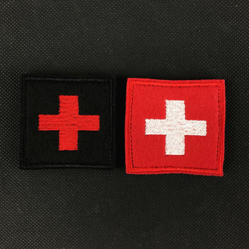 1pc Mini 3d Red Cross Flag Of Switzerland Swiss Cross Patch Medic Paramedic Tactical Army Morale Badge About 2.5*2.5cm New Varieties Are Introduced One After Another Apparel Sewing & Fabric Home & Garden
