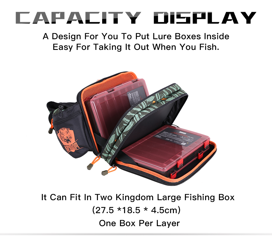 Kingdom 2019 New Waterproof Fishing Bag Large Capacity Multifunctional Fishing Lure Box Tackle Backpack Outdoor Shoulder Bags 11