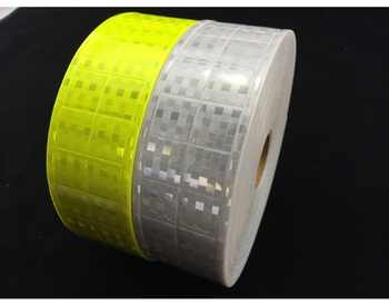 5cm pvc reflective tape small square shape flashing reflective at night safety clothing accessories - DISCOUNT ITEM  0% OFF All Category