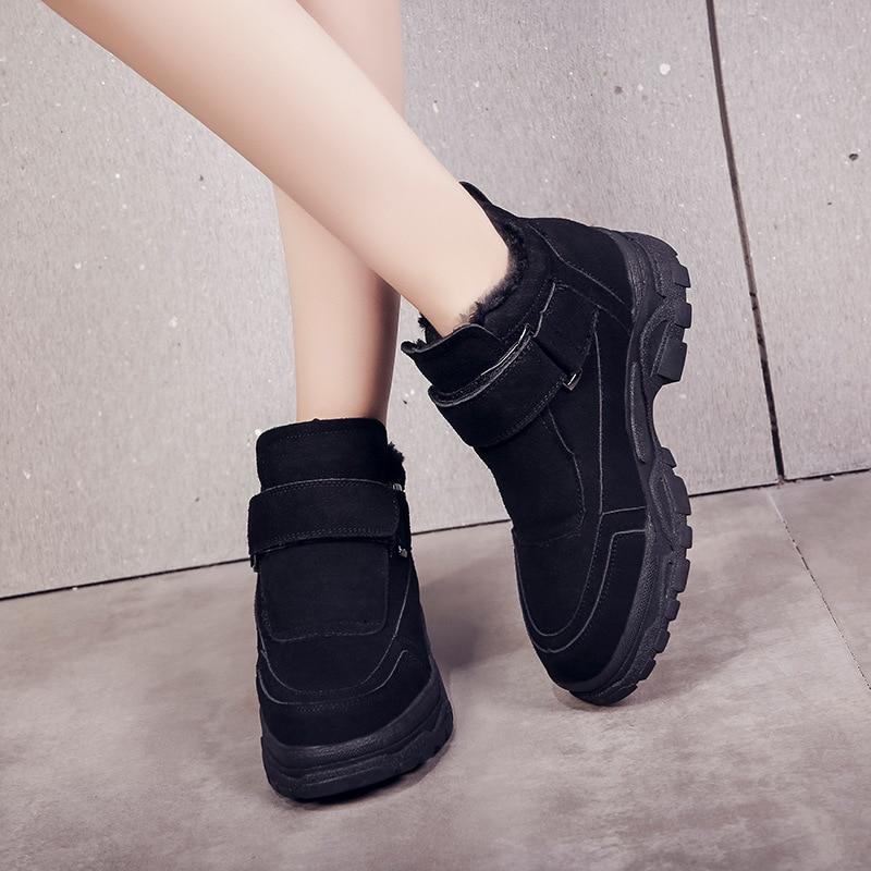 Peluche Garder Sneakers Coton Épais 2018 Protection Au Fond Ultraléger Hiver Froid Femme Balck Nouvelle Chaussures red Confortable Chaud qRUFX