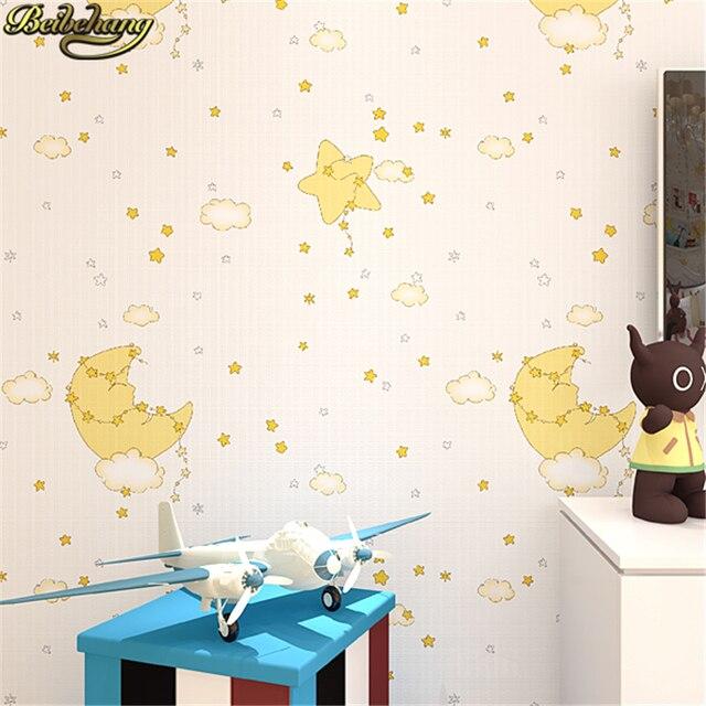 Beibehang papel de parede 3D Tapete Für Cartoon Kinderzimmer Schlafzimmer  Jungen mädchen Mond Sterne Home Dekoration Wand papier rolle