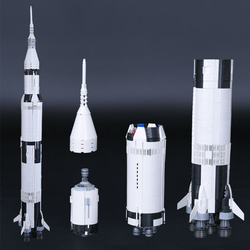 IN STOCK Lepin 37003 1969Pcs The Apollo Saturn V Launch Vehicle Set Children Educational Building Blocks Bricks Toy 21309