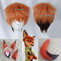 High Quality Short Straight Nick Wilde Wig Zootopia Zootropolis Synthetic Hair Anime Cosplay Wig Cos Wigs