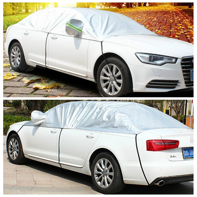 Car Half Covers Sunshade Styling Foil Waterproof Thicken Snow Shield Anti UV Snow Protection For Opel