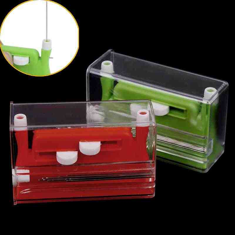 Multi-function Automatic Needle Threader with Knife Thread Cutter DIY Cutting Knife Line Sewing Tools Accessories