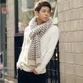 Трикотажные полосатый искусственного кашемир долгой зимы шарф мужчины 2017 мода теплые Пушистые шарфы, écharpe homme, sjaals дам зимой 2017