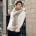 Faux bufanda de cachemir de invierno de los hombres de punto a rayas 2017 de la manera caliente Mullido bufandas echarpe homme, sjaals damas invierno 2017