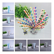 Environmental colorful paper straw straight drinking wedding kids birthday party decoration supplies dispette free ship