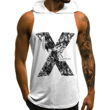 2019 Mens Cotton Sleeveless Hoodie Bodybuilding Workout Tank Tops Muscle Fitness Shirts Male Gyms Clothing Top Vest
