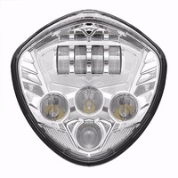 Motorcycle Chrome LED Headlight Headlamp For Victory Cross Country Cross Road