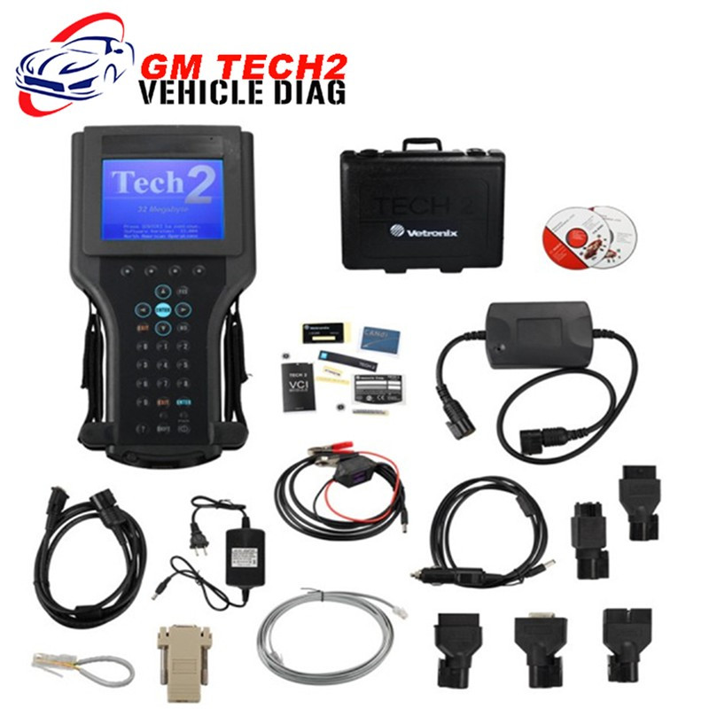 DHL free shipping GM Tech2 full set  for GM /SAAB/ OPEL/ SUZUKI /Holden /ISUZU  gm tech 2  scanner with Customized Case