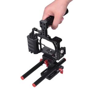 Image 3 - Andoer Video Máy Ảnh Cage + Hand Grip + Xử Lý Hàng Đầu Kit Làm Phim Hệ Thống với Cáp Kẹp đối với Sony A6000 a6300 A6500 NEX7 ILDC