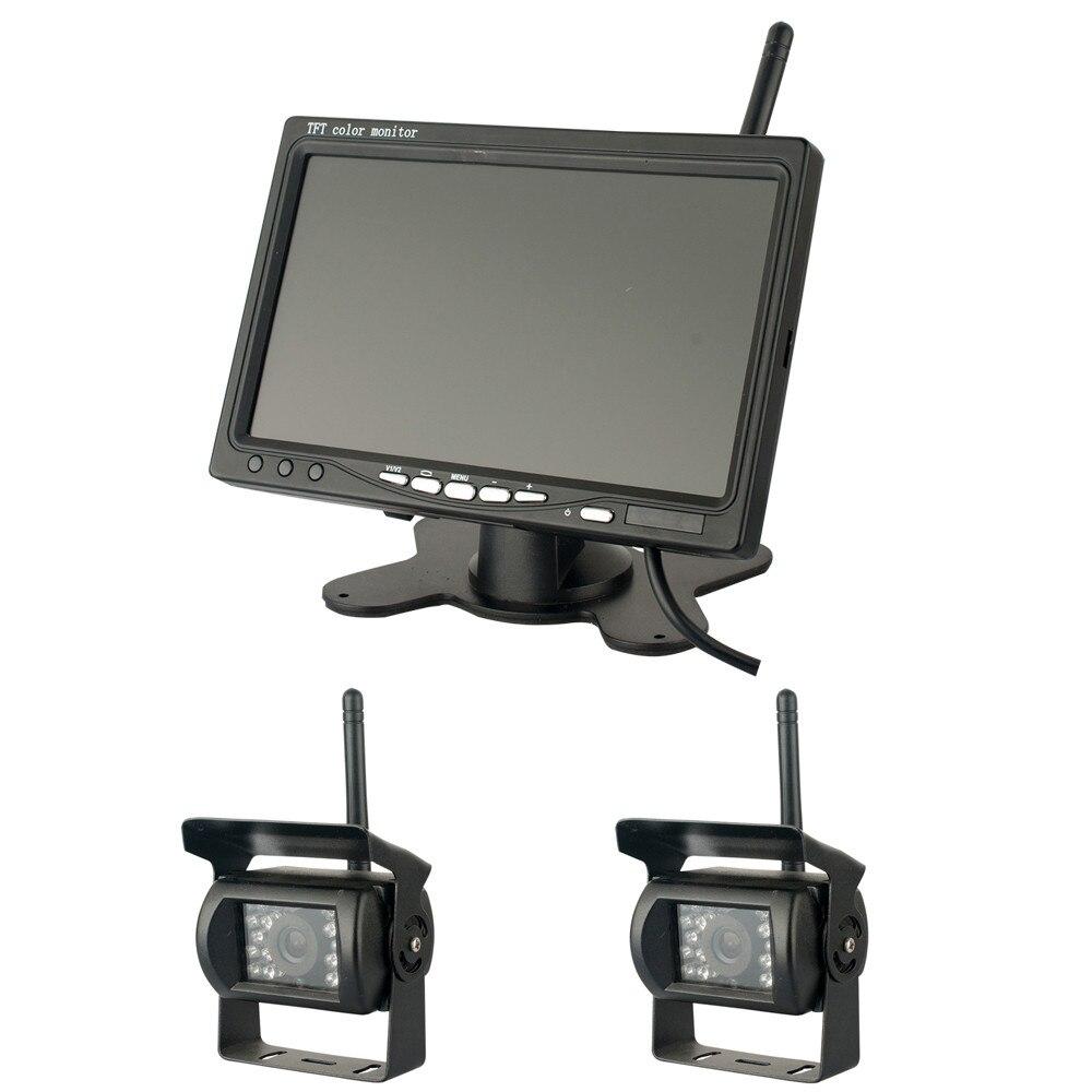 Podofo Wireless Dual Hintere Ansicht unterstützungsrück Kameras ...