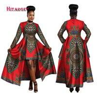 Hitarget 2017 African Dresses For Women Dashiki Cotton Wax Print Batik Sexy Long Dress For Femal