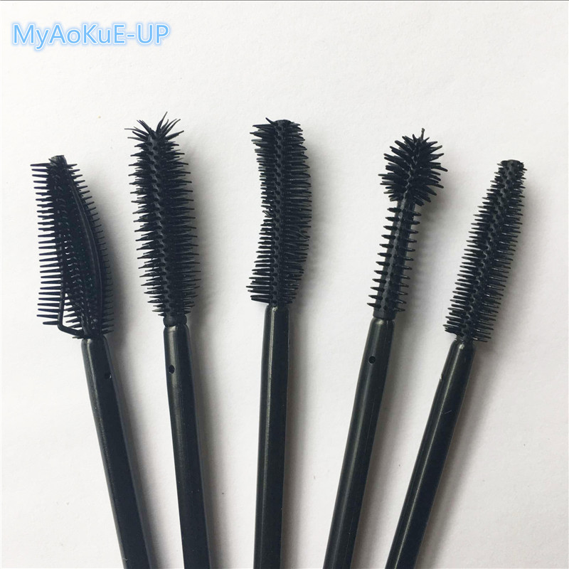 Makeup Tools Eyelash Extension 1000pcslot Wholesale 5 Type Black Pineapple Spherical Knife shape Disposable Eyelashes Brushes
