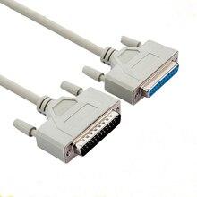 25pin db25 paralelo masculino para fêmea lpt impressora db25 M F cabo 1.5 m cabo de computador impressora cabo de extensão 25 pinos lpt
