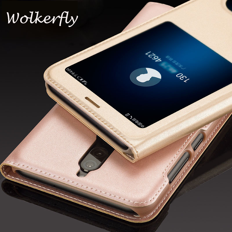 For Huawei Honor 7X case Quick View Open Window Flip PU leather cover For Huawei Honor 7 ...
