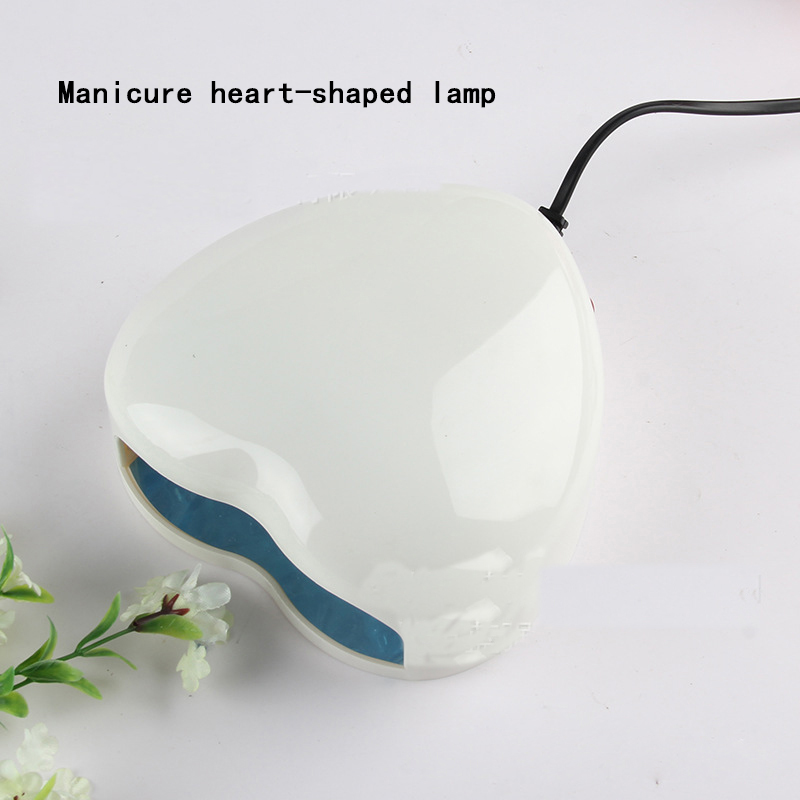 High-quality Heart Shaped LED / UV Light Therapy Lamp Nail Dryer Heart Shaped Nail Art Tools DIY Manicure appliances v102 diy heart shaped led flash light kits green white
