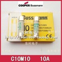 цена на [SA]United States BUSSMANN Fuse C10M10 10A C10M12 C10M16 16A 550V fuse--30pcs/lot