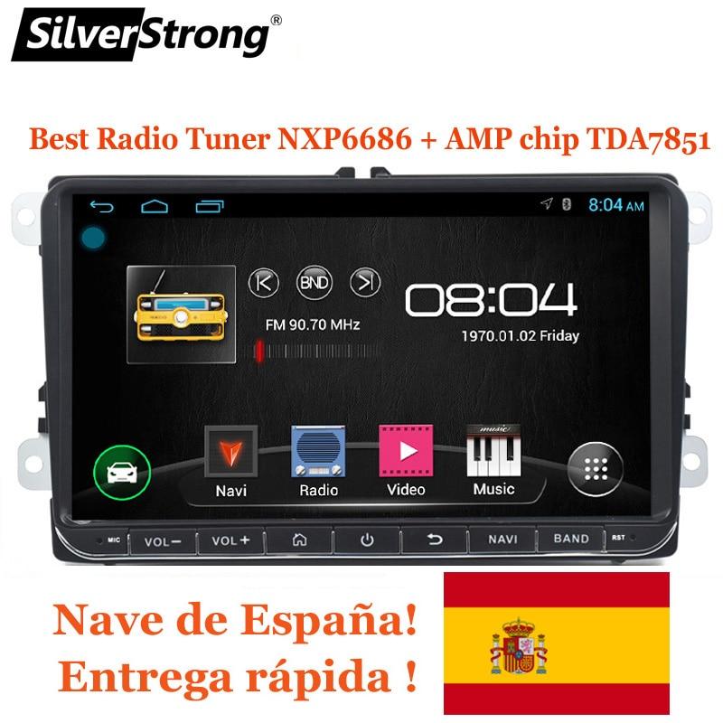SilverStrong Android8.1 9 pollici per B6 B7 GPS del DVD Dell'automobile Per Volkswagen Golf GPS Per VW Polo Auto Stereo Radio GPS senza DVD 68 s