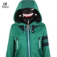 ROLECOS Anime Tokyo Ghoul Kaneki Ken Hoodie Jacket Cosplay Costume Men Coat