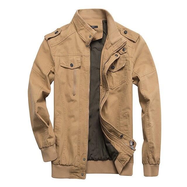 2019 Hommes automne hiver veste Militaire manteau de Veste Hommes Coton Veste Casual Cargo Jaqueta Armée Hommes Pilote de Veste plus size6xl