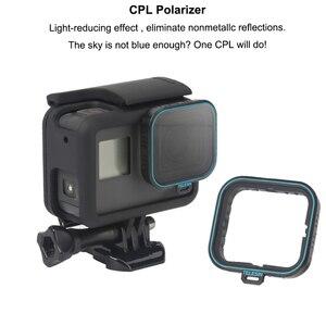 Image 3 - TELESIN lens dalış filtre Polarizied filtre CPL filtreler ND 4/8/16 filtreleri GOPRO hero 5 6 7 hero 7 hero 5 hero 6 koruyucu