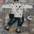 Outono Do Bebê Tricô Padrão Natal Cardigan Para Meninas Crianças Manga Comprida Um Suéter Com Bola de Jumper Pullover Para Meninos 2-5Y