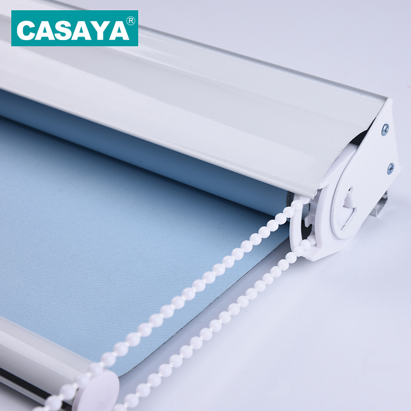 CASAYA Heavy Duty Roller Blinds with Dust Cover Easy Cleaning Window Blinds Blackout Curtains for Office
