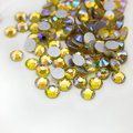 Citrine AB Cristal Del Hotfix Rhinestones Para El Arte Del Clavo Decoración 1440 unids Crystal Clear Piedras Strass Redondo Color de Diy de La Ropa
