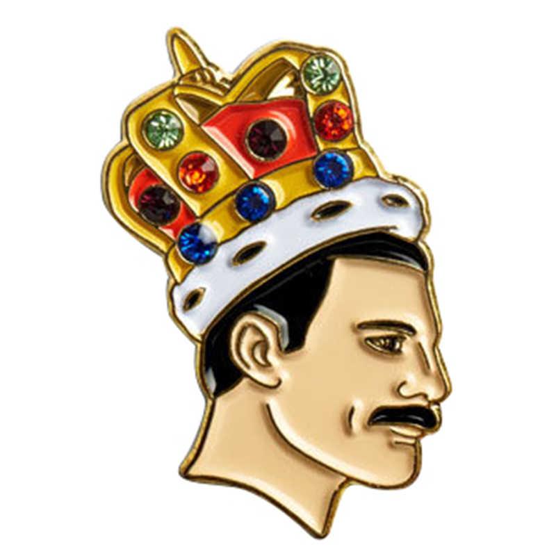 Freddie Mercury Kerah Pin Queen Penyanyi Lencana Musik Bros LGBT Seni Perhiasan