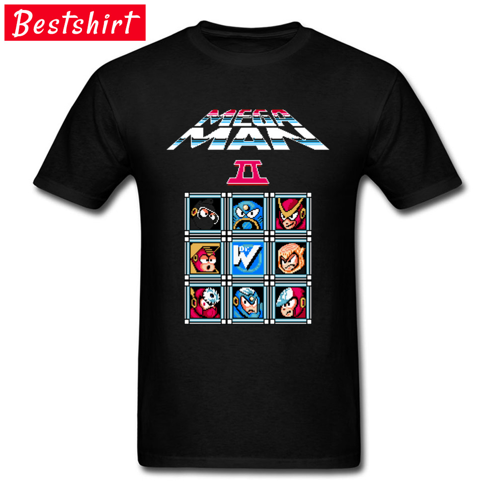Mega Man II Classic Top T-shirts Electronic Game Pure Cotton Summer Fall T Shirt Top Quality Clothing Shirts Awesome Tees Youth image