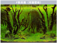 NEW 12 30CM Tall Green Aquarium Background Poster Double Sided LIVE Fish Tank Landscape Picture Wall
