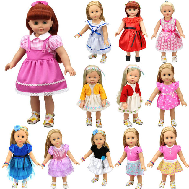 15 Colors Princess Dress For 18 inch American Girl Doll