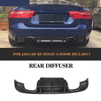 Fibre de carbone Extension de pare-chocs arrière diffuseur spoier arrière séparateurs volets tablier pour Jaguar XE berline 4 portes 2015 2016 2017