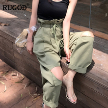 RUGOD Women High Waist Cargo Pants 2018 Lastest Women Fashio