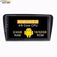 Ips Android 9,0 Автомобильный мультимедийный dvd плеер головное устройство для Volkswagen/VW Skoda Octavia A7 2013 + gps навигации радио авто стерео