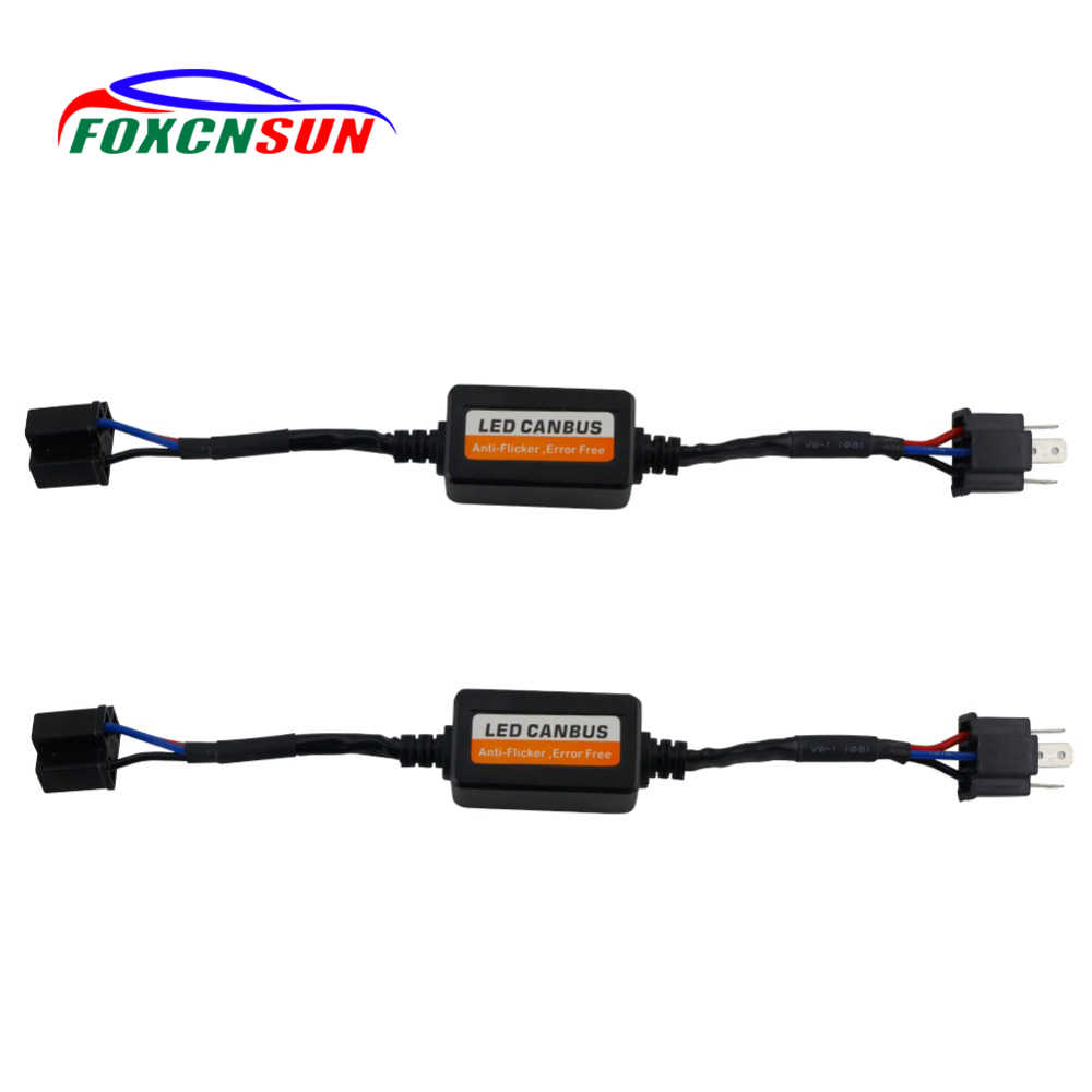 Foxcnsun Free Error H7 Led Canbus Decoder for Car Led Headlights H4 H11 H8 H13 9005/HB3 9006/HB4 Decoder for Led Fog Lamps Bulbs