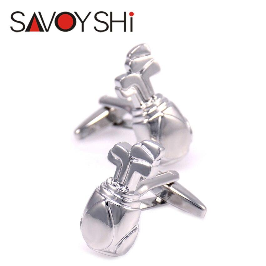 Golf bags Cufflinks for Mens Shirt Cuff bottons High Quality Novelty Copper Cufflinks Fashion SAVOYSHI Brand Jewelry Design