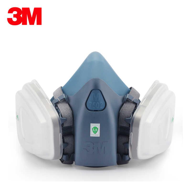 13 في 1 3M 7502 نصف قناع واقي من الغاز تنفس واقية الغبار واقية قناع خراطيش تصفية الصناعية صقل الألغام رذاذ سيليكون قناع