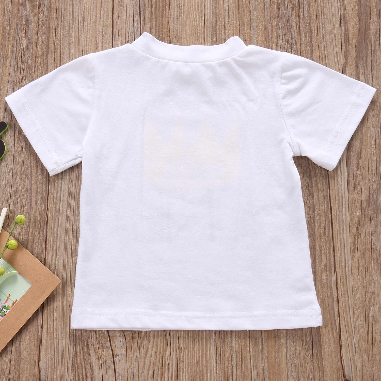 Pudcocoทารกเสื้อยืดทารกเด็กเด็กเด็กสาวเสื้อผ้าฤดูร้อนป่าประเดิมหนึ่งLette Red 1STวันเกิด