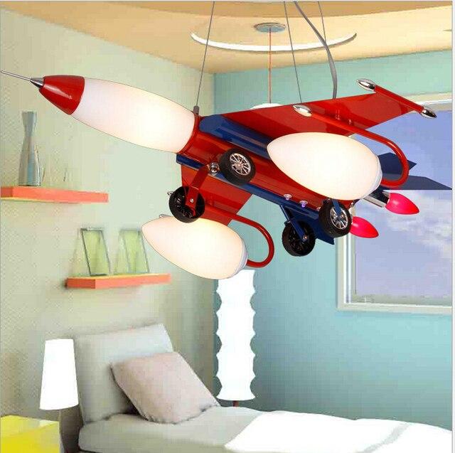 Rote Led Kinder Lampe Flugzeug Design Kinderzimmer Lampe Kinder