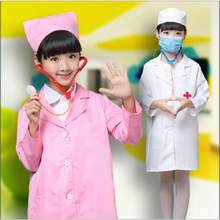 eea19f3589a Child Halloween Cosplay Costume Kids Doctor Costume Nurse Uniform Girls  Game Clothing Wear Clothing for Party