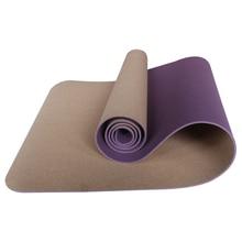 Пробковый коврик для йоги, производитель источника, безвкусный и экологически чистый, может быть настроен.