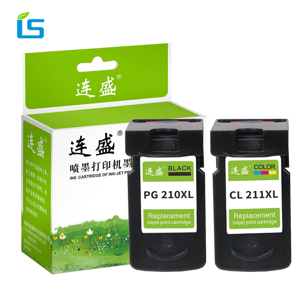 2Pcs/set PG 210 PG210 CL211 XL Refilled Ink Cartridge Replacement for Canon PG-210 CL-211 for Pixma IP2700 IP2702 MP240 MP250 цена 2017