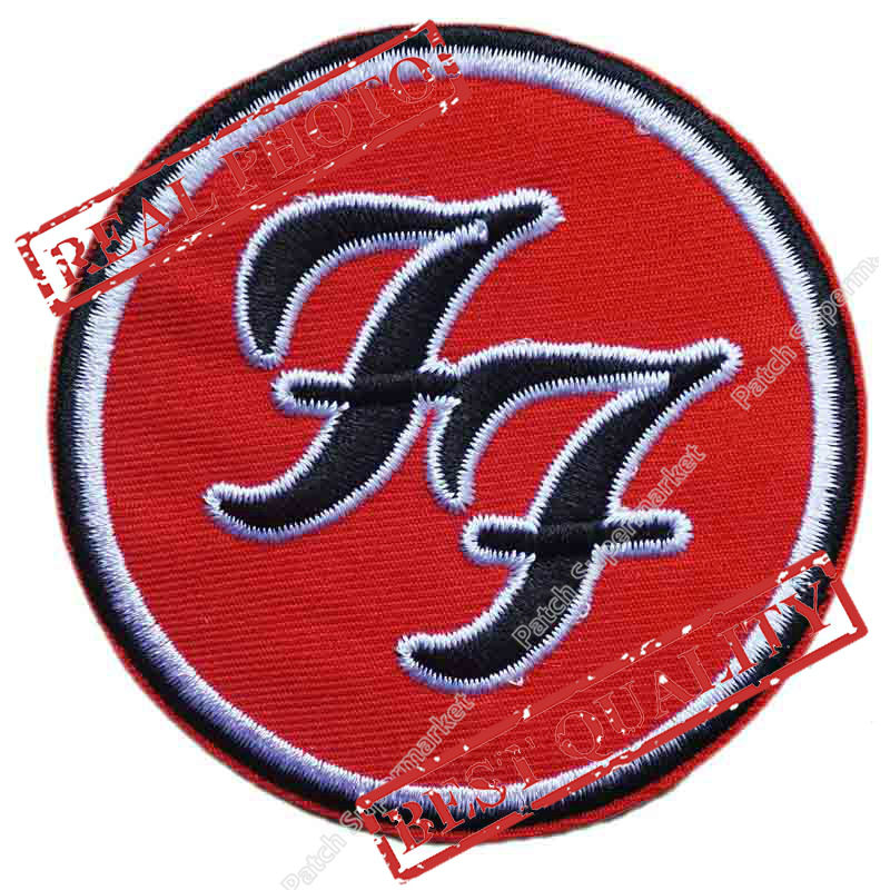3 FOO FIGHTERS Patch Music Band Embroidered LOGO Iron On Emo Goth Punk Rockabilly badge emblem