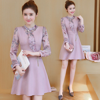 2018 new spring women dress false two long sleeved dresses korean fashion lady vestidos design clothes outfit girl costume