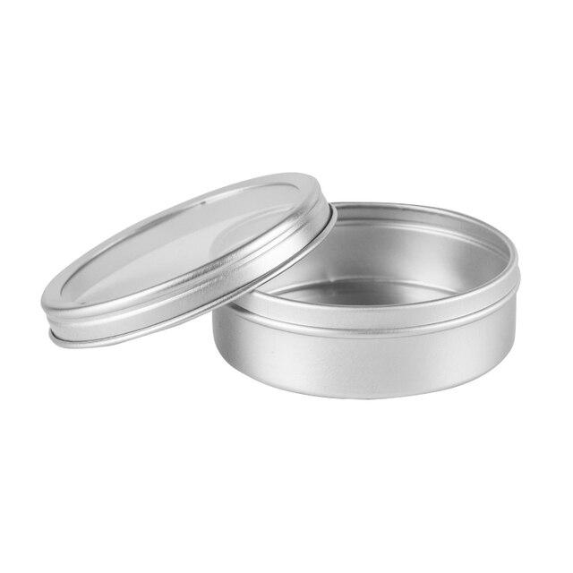 24 PC X 20G 40G 100G tarro de aluminio vacía redonda de aluminio mate crema de crema cosmética contenedor de lata de té botella de botella